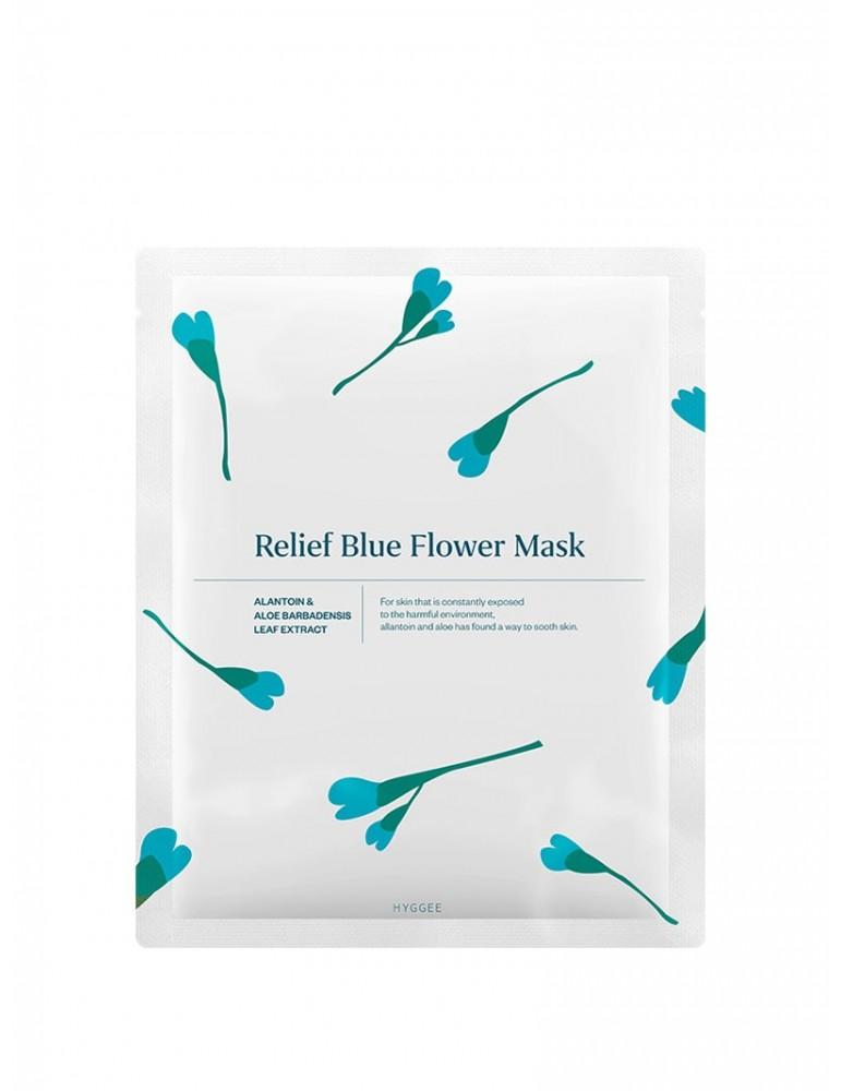 Relief Blue Flower Mask de Hyggee